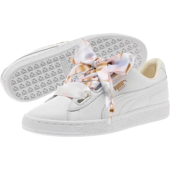 Despertar al menos secuencia  Puma Shoes | Womens 75 Basket Heart Geo Camo Sneakers | Poshmark
